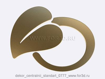 Decor central standart 0777 stl model for CNC