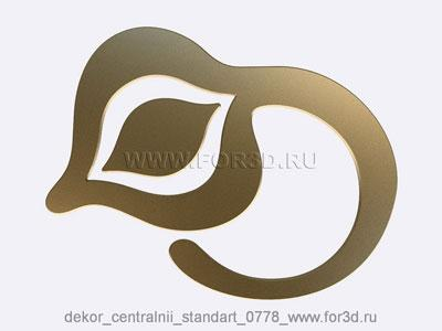 Decor central standart 0778 stl model for CNC