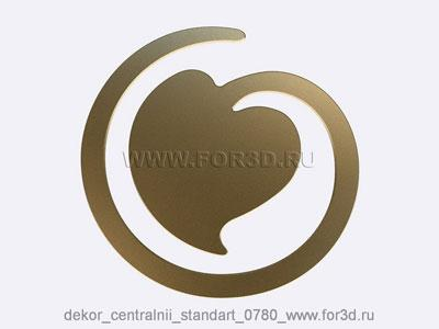Decor central standart 0780 stl model for CNC
