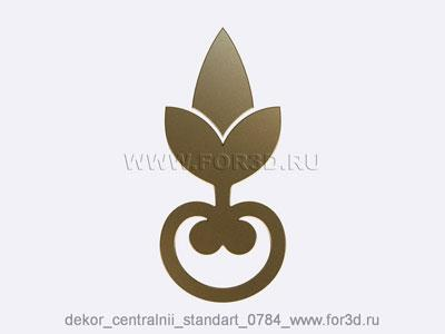 Decor central standart 0784 stl model for CNC