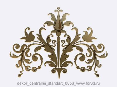 Decor central standart 0856 stl model for CNC