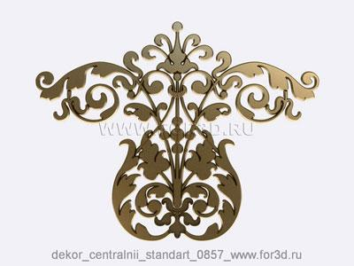 Decor central standart 0857 stl model for CNC