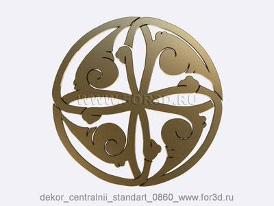 Decor central standart 0860 stl model for CNC