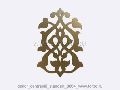 Decor central standart 0864 stl model for CNC