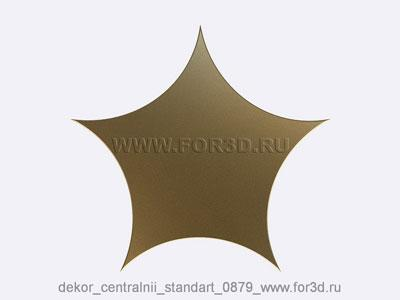 Decor central standart 0879 stl model for CNC