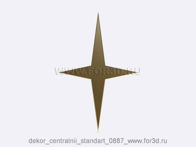 Decor central standart 0887 stl model for CNC