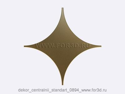 Decor central standart 0894 stl model for CNC