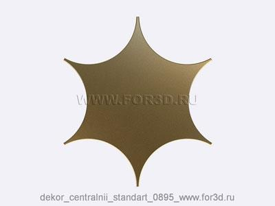 Decor central standart 0895 stl model for CNC