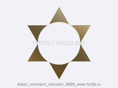 Decor central standart 0899 stl model for CNC
