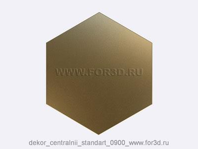 Decor central standart 0900 stl model for CNC