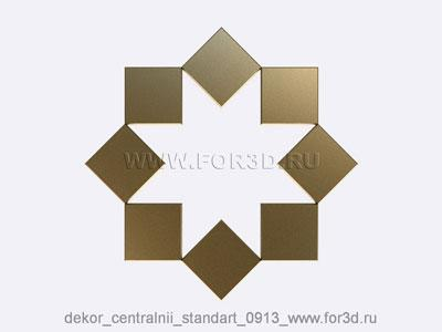 Decor central standart 0913 stl model for CNC