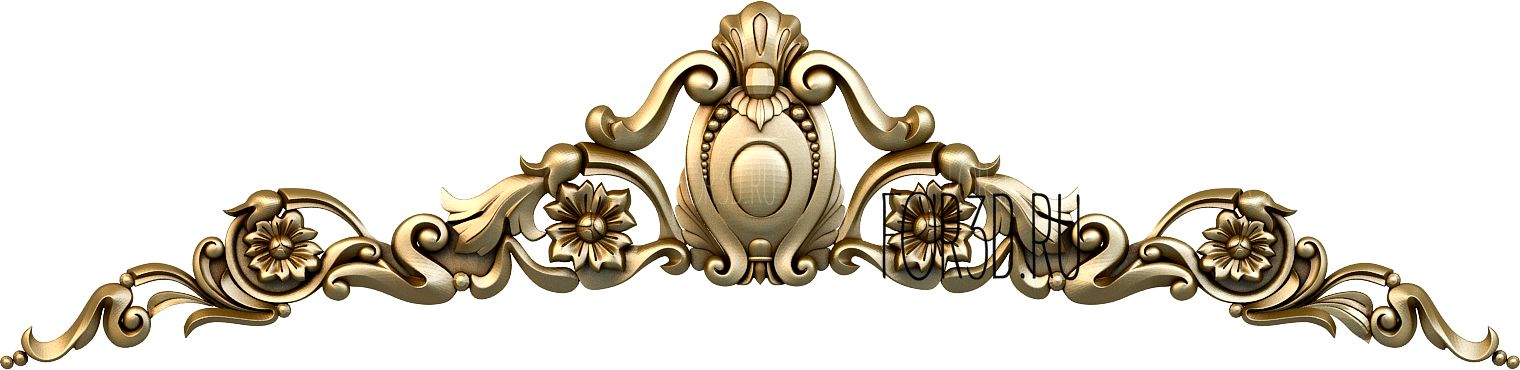 Decor horizontal 1102 3d stl модель для ЧПУ