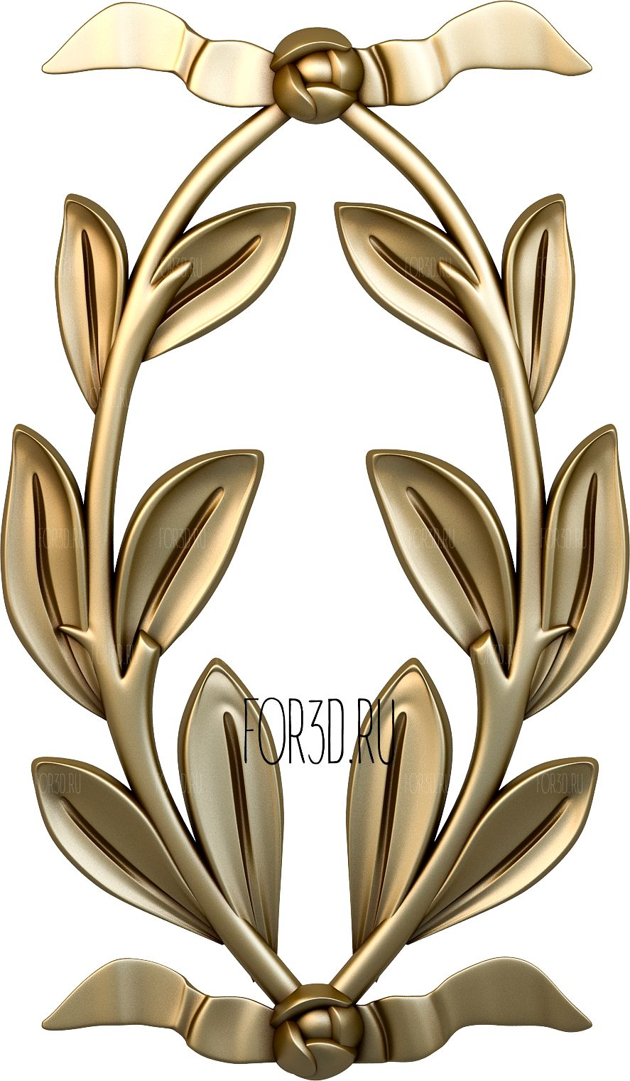 Decor vertical 0419 3d stl модель для ЧПУ