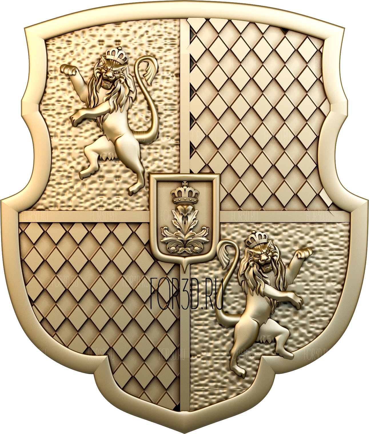 Coat of arms 0032 3d stl модель для ЧПУ