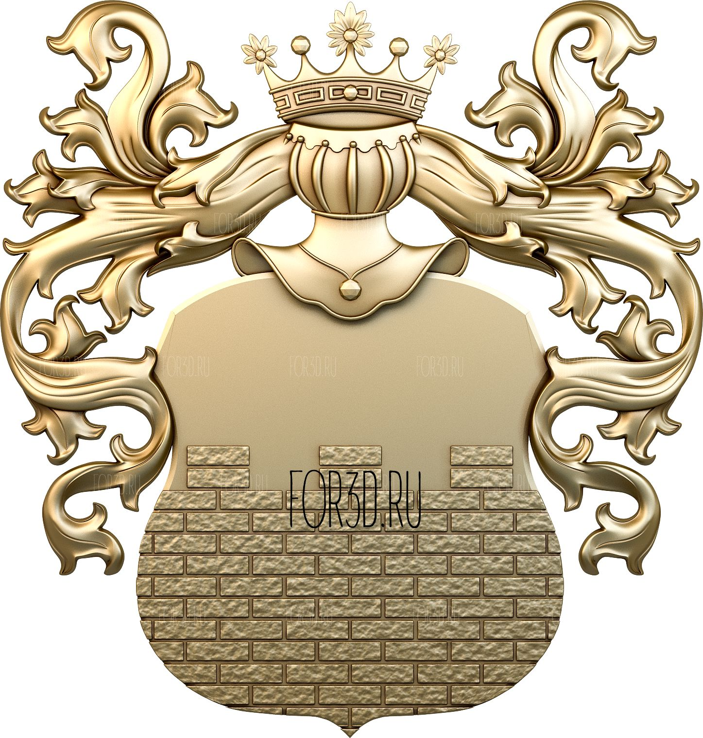 Coat of arms 0059 3d stl модель для ЧПУ