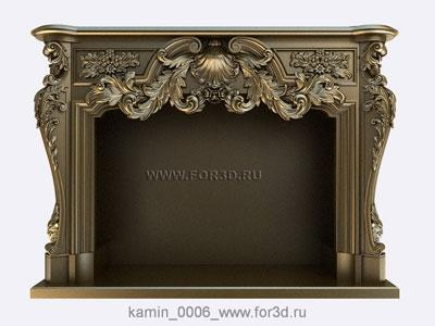 Fireplace 0006 | 3d stl model for CNC stl model for CNC