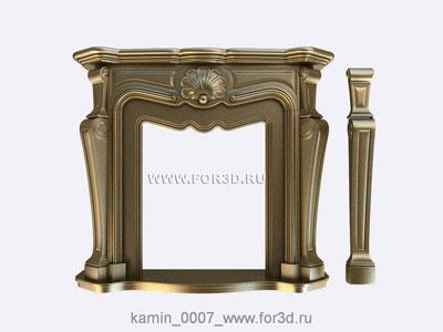 Fireplace 0007 | 3d stl model for CNC stl model for CNC