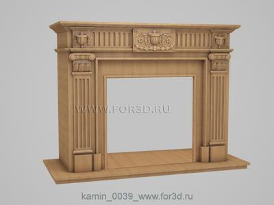 Fireplaces 0039 stl model for CNC