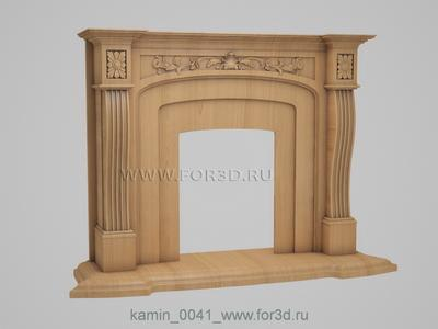 Fireplaces 0041 stl model for CNC