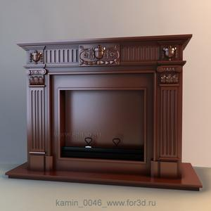 Fireplaces 0046 stl model for CNC