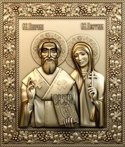 Icon 0148 Hieromartyr Cyprian and Justina of Antioch stl model for CNC