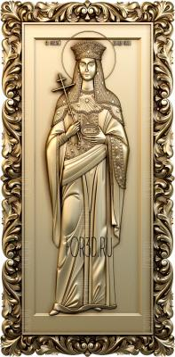 The icon of Saint Helena 0150 stl model for CNC