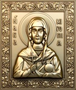 The icon of the Holy Martyr Miropy 0156 stl model for CNC