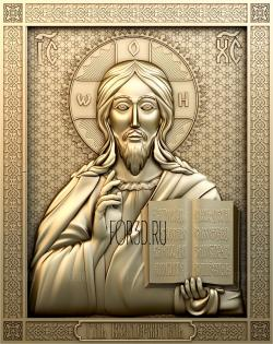 The icon of the Lord Almighty 0232 stl model for CNC