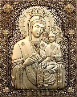 Icon of Our Lady of Deliverance 0345 3d stl модель для ЧПУ