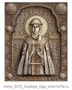 Icon of Saint Olga 0272 | stl - 3d model stl model for CNC