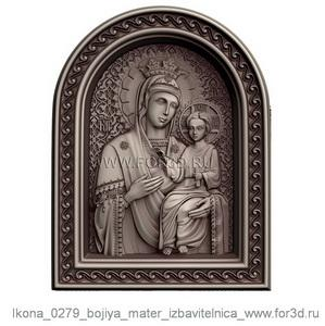 Icon 0279 of Our Lady deliverer | stl - 3d model stl model for CNC