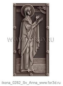 Icon of Saint Anne 0282 | stl - 3d model stl model for CNC