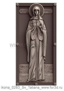 Icon of St. Tatiana 0283 | stl - 3d model stl model for CNC