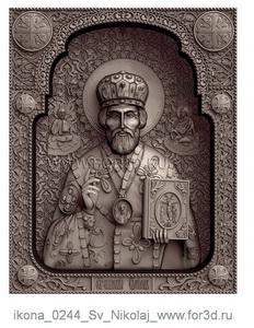 Icon 0244 St. Nicholas | stl - 3d model stl model for CNC