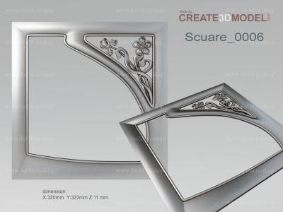 Scuare 0006 stl model for CNC