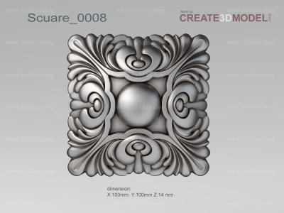 Scuare 0008 stl model for CNC