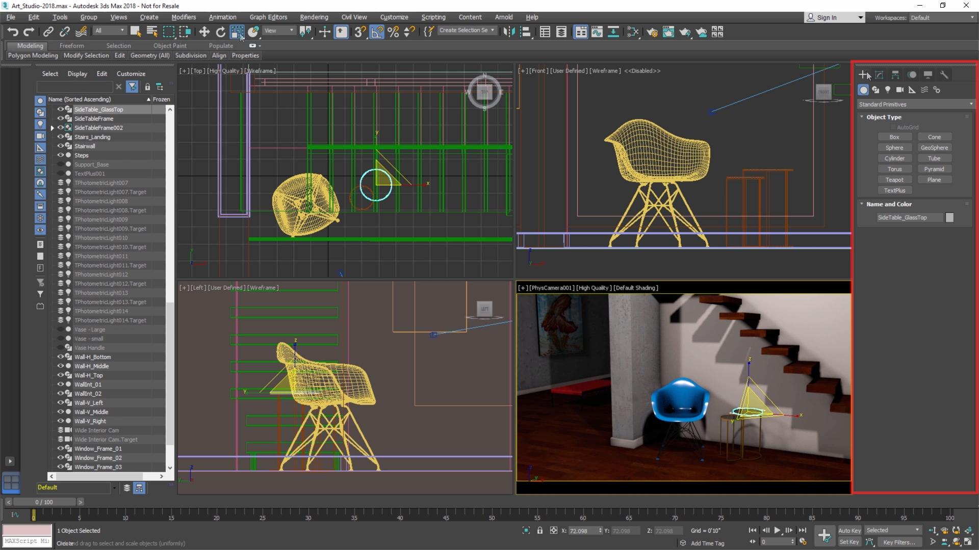 Работа с моделями в 3д максе модели веб камер