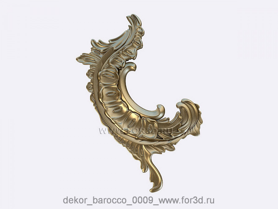 Decor baroque 0009 3d stl модель для ЧПУ