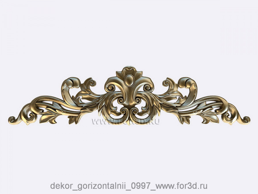 Decor horizontal 0997 3d stl модель для ЧПУ