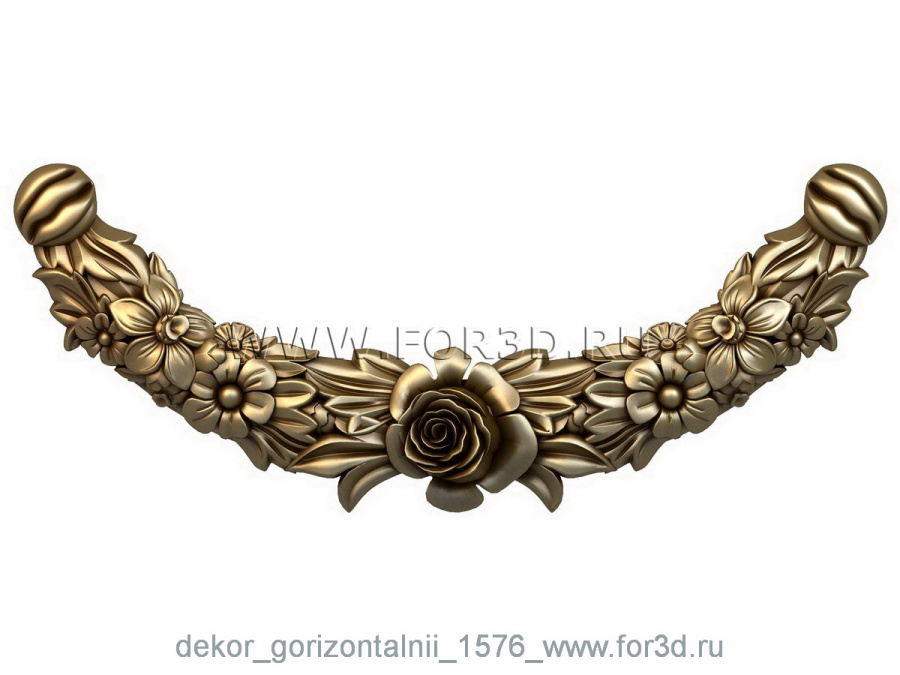 Decor horizontal 1576 3d stl модель для ЧПУ