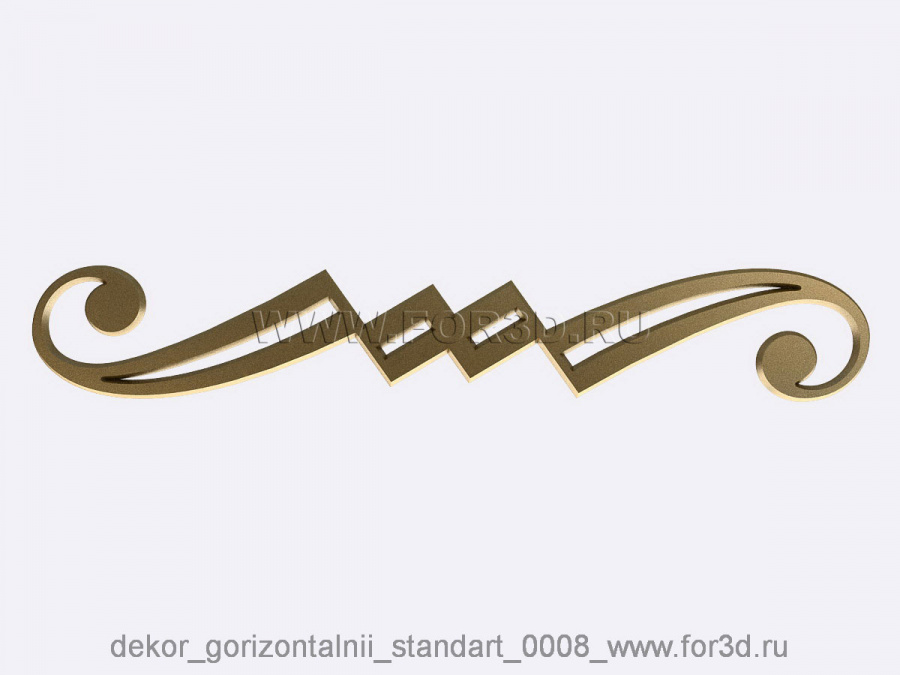 Decor horizontal standart 0008 3d stl модель для ЧПУ