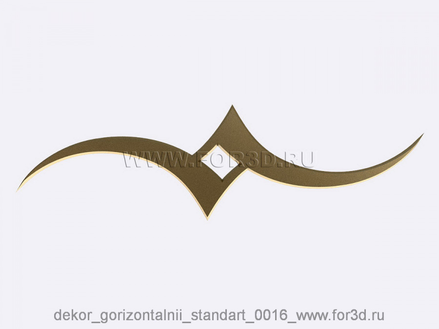 Decor horizontal standart 0016 3d stl модель для ЧПУ