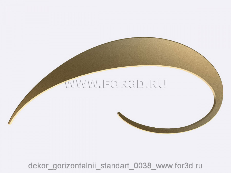 Decor horizontal standart 0038 3d stl модель для ЧПУ