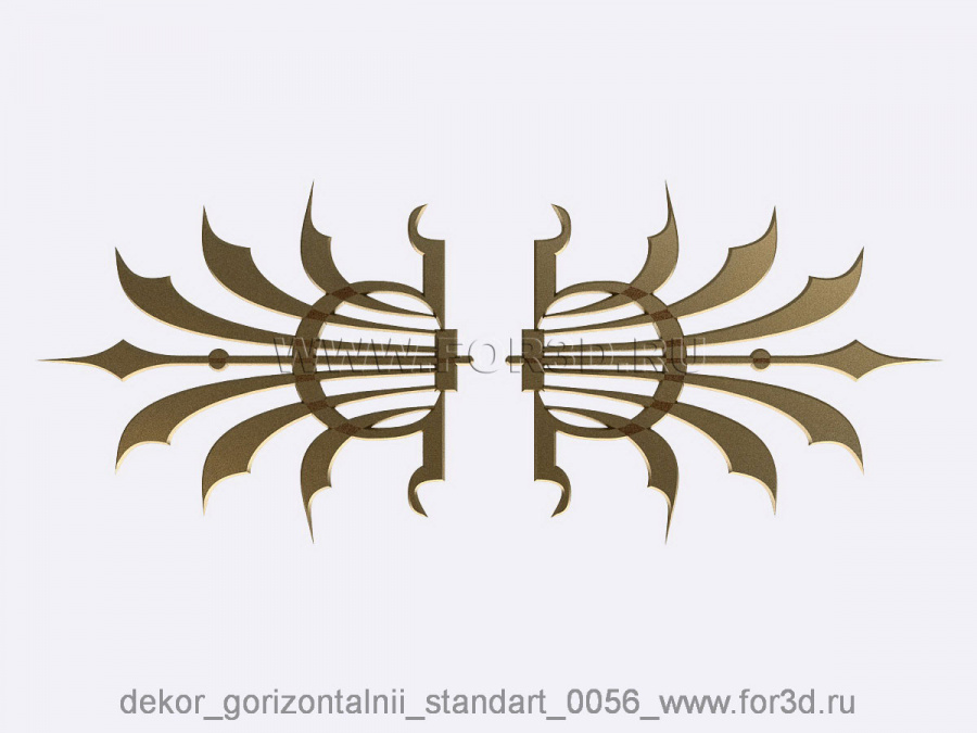 Decor horizontal standart 0056 3d stl модель для ЧПУ