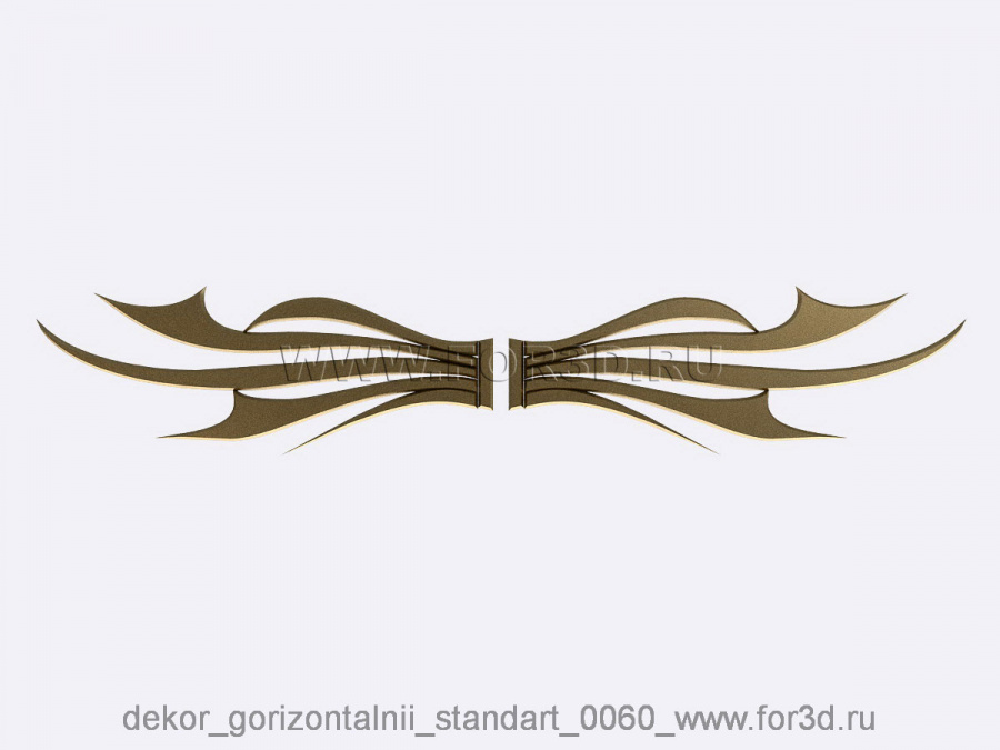 Decor horizontal standart 0060 3d stl модель для ЧПУ