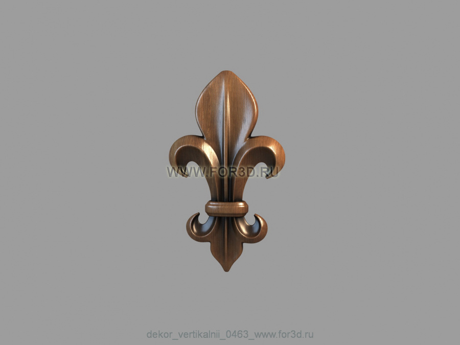 Decor vertical 0463 3d stl модель для ЧПУ