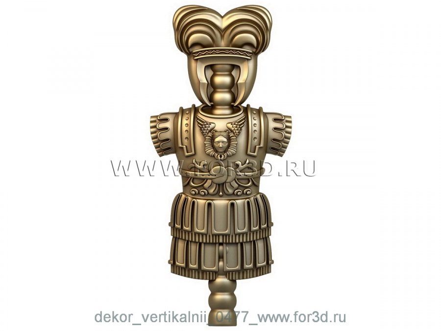 Decor vertical 0477 3d stl модель для ЧПУ