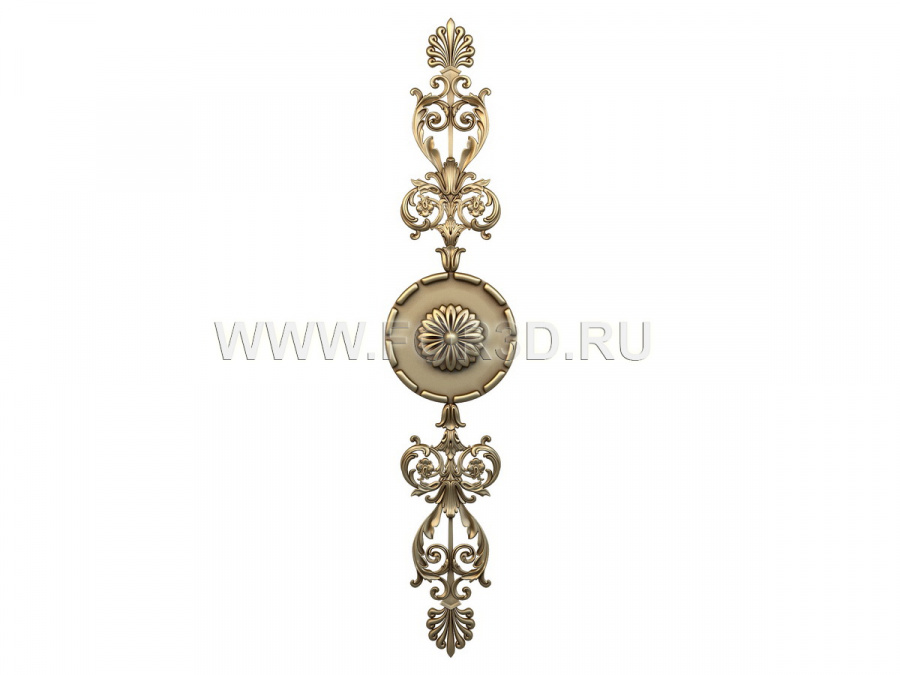 Decor vertical 0481 3d stl модель для ЧПУ