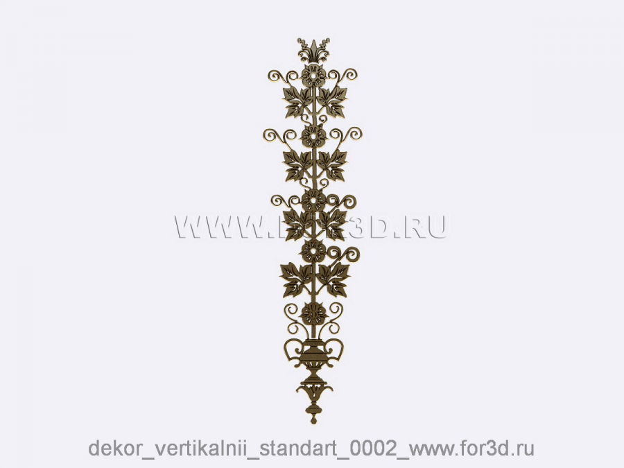 Decor vertical standart 0002 3d stl модель для ЧПУ