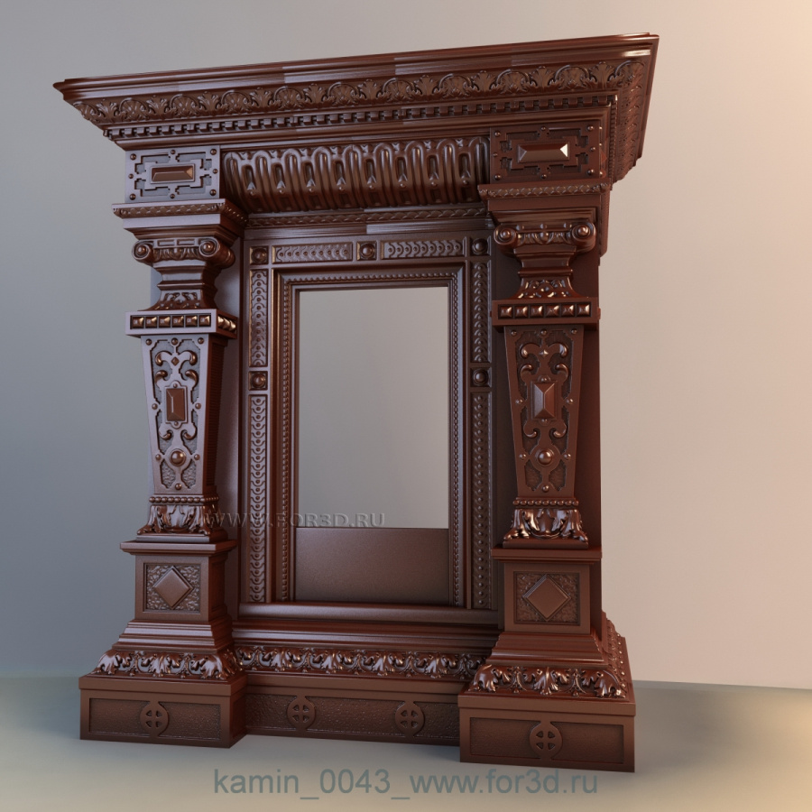 Fireplaces 0043 3d stl модель для ЧПУ